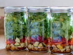 Receita de salada de pote: para facilitar sua vida e você comer verdura todos os dias | Cura pela Natureza