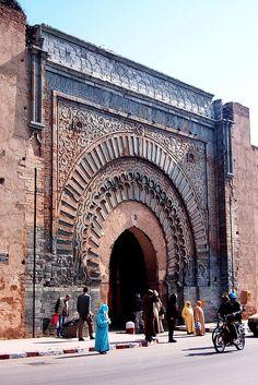 The Bab Agnaou gate, Marrakech, Morocco