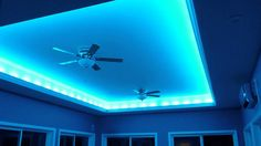 Crazy Lights LED indirect lighting for the ceiling.