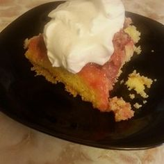 Upside Down Rhubarb Cake Allrecipes.com