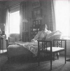 Grand Duchess Olga on the couch in her and Tatiana's bedroom, c. 1915. This may have been taken when she was recovering from her nervous breakdown.