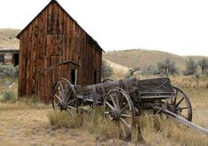 wagon in ghost town of Bodie, California