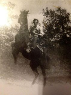 My Father, Bobby Eugene Fletcher on his horse, Booger.