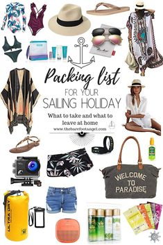 What to Pack for your Sailing Vacation - What to Bring and What to Leave at Home! The Ultimate Packing List for your Sailing Trip Packing List For Cruise, Packing List For Vacation, Vacation Trips, Cruise Travel, Cruise Vacation, Packing Tips, Beach Vacation Packing List, Yacht Vacations, Vacation Outfits