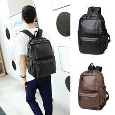 2cd9384439 Vintage Men s Computer Backpack Leather Shoulder School Bag Vintage  Rucksack Bag  fashion  clothing  shoes  accessories  mensaccessories  bags  (ebay link)