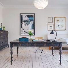 Scandinavian home office Interior Design Photos, Scandinavian Interior Design, Scandinavian Home, Interior Design Inspiration, Home Office, Office Decor, Office Ideas, Modern Office Design, Decoration Inspiration