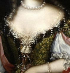 """Portrait of Frances Jennings, Duchess of Tyconnel"" (c. 1675) (detail) by Henri Gascar (1635-1701)."