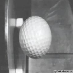 Golf Ball Hitting Steel in Slow Motion | Gif Finder – Find and Share funny animated gifs