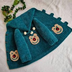 Baby Knitting Patterns, Baby Patterns, Crochet Baby Clothes, Baby Cardigan, Baby Girl Dresses, Skirt Fashion, Diy And Crafts, Knit Crochet, Coin Purse