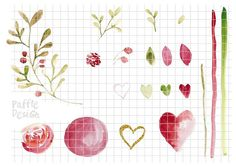 Romantic clip art with endless combinations, perfect for any kind of love theme craft projects by Paffle Design
