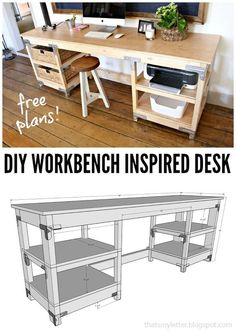 """That's My Letter: """"W"""" is for Workbench Inspired Desk"""