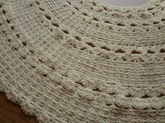 Crochet tree skirt -- love this idea for a mini tree