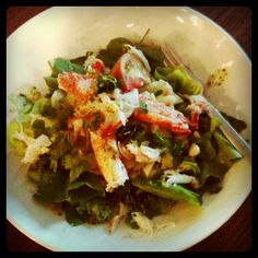 Lobster Salad - butter lettuce, avocado, celery root, cucumber, crab, heirloom tomato - lime coconut grapeseed dressing