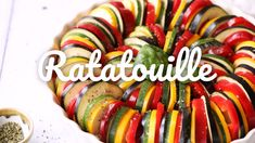Made with an array of healthy vegetables, this recipe is delicious as a side dish or even as a lighter main course. Impress your guests with the beautiful colors and flavors of this vegan and gluten-free ratatouille! We used our new Squeezable Organic Ste Veggie Dishes, Vegetable Recipes, Vegetarian Recipes, Cooking Recipes, Vegan Vegetarian, Healthy Recipe Videos, Healthy Recipes, Easy Ratatouille Recipes, Vegan Recipes