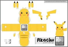 Pokemon Go - Easy-To-Build Pikachu Paper Toy - by Tonchat Jaizue Pokemon Papercraft, Pokemon Craft, Pokemon Party, Pokemon Birthday, Anime Crafts, 3d Paper Crafts, Paper Toys, Paper Art, Pikachu Pikachu