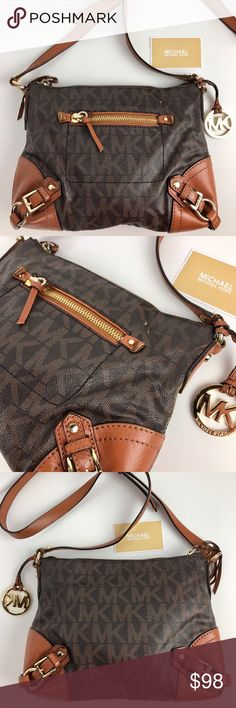 "Michael Kors Fallon Messenger Bag Condition: Gently used with some signs of wear on the outside of bag. See photos.    A forever classic. MICHAEL Michael Kors' Fallon Messenger Bag creates a timeless, chic look that'll be your go-to for years to come. Cross body strap with a 20"" drop. Exterior zipper pocket - interior 4 slip pockets and 1 zipper. 11x9x2. Top zip closure. Style 30T4GLOM2B. Our bag # RB207  Thank you for your interest!  PLEASE - NO TRADES / NO LOW BALL OFFERS Michael Kors Bags…"
