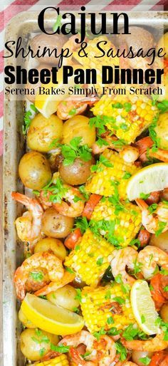 Cajun Shrimp and Sausage Sheet Pan Dinner