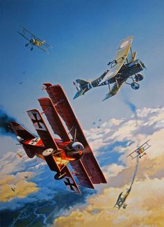 Vintage Biplanes 23 Incredible Aviation Art Photography - vintagetopia - If it comes to service, our aim is to supply the maximum quality food and service which is that which we wish to do consistently. Military Art, Military History, Fokker Dr1, Luftwaffe, Focke Wulf, Airplane Art, Ww2 Planes, Fighter Aircraft, Fighter Jets
