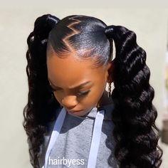Black Kids Hairstyles, Black Girl Braided Hairstyles, Natural Hairstyles For Kids, Little Girl Hairstyles, Natural Hair Styles, Hair Ponytail Styles, Weave Ponytail Hairstyles, Sleek Ponytail, Baddie Hairstyles