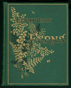 European Ferns, James Britten Description Green diagonal-rib-grain cloth. Gold and black stamping on front and spine. Blind stamping on back. Beveled edges. Endpapers printed with tan leaf pattern. All gilt. Book topics: Botany--Europe; Ferns; Europe--Botany.