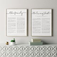 Large Family Proclamation Print (18 x 24) great as an anchor piece on your gallery wall or in a set with the Living Christ Print. Modern font with different parts emphasized makes it more inviting to read. It's now printed on beautiful bright white 100lb paper. Matte Finish. Available in Gray