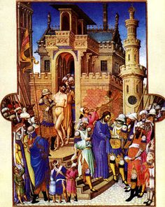 Folio 146v - Christ Leaving the Praetorium