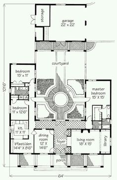 Casa com patio interior