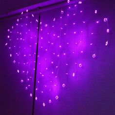 Lusanity Heart Shape String Fairy Light 128 LED 1.5m x 1.5m 8 Modes for Bedroom Party Christmas Wedding Curtain Festival (Purple): Amazon.co.uk: Lighting