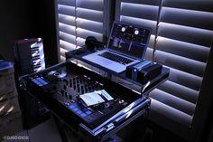 My DJ setup includes a MacBook Pro running Serato DJ software, LaCie Thunderbolt hard drive, Pioneer DDJ-SX controller and as a backup, an iPad Mini running Algoriddim Djay app.