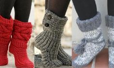 Here is a selection of 6 free and French patterns to knit comfortable slippers booties Source by gin Knitting Projects, Crochet Projects, Knitting Patterns, Diy Crochet, Crochet Baby, French Pattern, Comfortable Boots, Slipper Boots, Beautiful Crochet