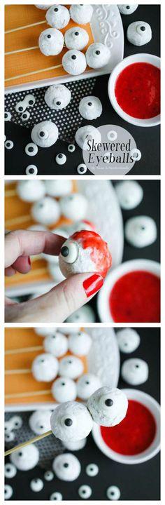 Skewered Eyeballs | Fun Halloween Treat