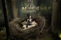 The richness of the earth, the liveness of the colors outside...    Eugenio Recuenco's Fashionable Fairy Tales