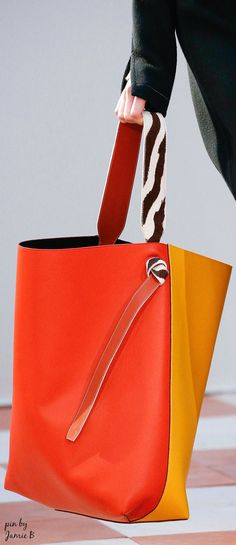 0bd8ad3fa72c Celine   F W 2015   Oversized twisted cabas in sunflower and light ruby  shiny