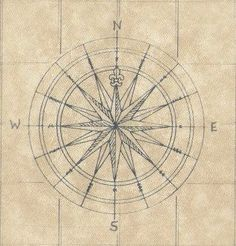Another compass rose. I can't get their image out of my head; I've never been able to, not since I was a little girl.