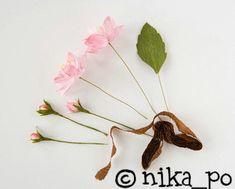 Handmade-kursy ,wzory ,tutoriale: Kwiat jabłoni z krepiny