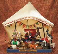 Home At Last - Antique Doll and Dollhouses: 271 Wonderful Set of American Wooden Humpty-Dumpty Circus by Schoenhut in Original Box