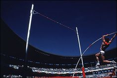 Sergey Bubka was the Olympic Gold medal winner 1988 for pole-vaulting. He was a World Champion in 1983,1987,1991,1993,1995 & 1997 and he broke the world record 35 times during his career. I hope to be like him!!!