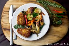 Buckwheat patties with roasted vegetables. Finally, a buckwheat recipe that doesn't involve pancakes!
