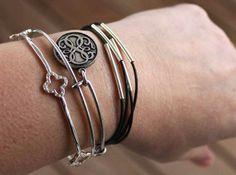 DIY Tube Wrap Bracelet |Sometimes-Homemade.com