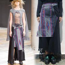 JUNYA WATANABE COMME DES GARCONS SS2014 Folk Pattern Faux Suede Skirt Sz XS