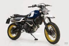 Outsider: Unit Garage makes an off-road kit for the Ducati Scrambler Desert Sled Ducati Scrambler Custom, Harley Davidson Scrambler, Ducati Motorcycles, Scrambler Motorcycle, Motorcycle Style, Yamaha, Desert Sled, Classic Car Insurance, Royal Enfield