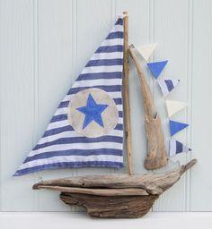 Driftwood boat ready to set sail