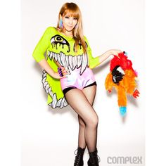 K-Pop Sensation 2NE1 Dresses Up in Jeremy Scott, Givenchy, and Balmain... ❤ liked on Polyvore featuring 2ne1, cl and photos