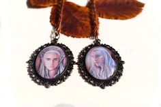 Set of two necklaces Elven king  huge copper pendants by JankaLart