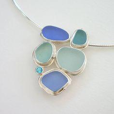 Lisa Hall Sea Glass Necklace More