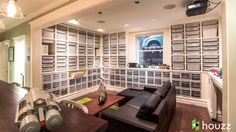 What does it look like to own Lego bricks? Take a tour of a US architect& basement complete with custom-built shelves and IKEA bins to hold and display his massive Lego collection. Ikea Bins, American Girl, Man Cave Basement, Geek Decor, Lego Storage, Basement Storage, Basement Remodeling, Lego Room, Lego Brick