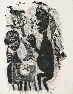 DUBUFFET, JEAN--PONGE, FRANCIS MATIÈRE ET MÉMOIRE OU LES LITHOGRAPHIES À L'ÉCOLE. PARIS, [FERNAND MOURLOT], 1945.