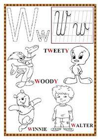 EDUCATIA CONTEAZA : PLANSE CU LITERE - DE COLORAT Printable Alphabet Worksheets, Printables, Woody, Tweety, Bts, Fictional Characters, Print Templates, Fantasy Characters, Woody Allen Quotes