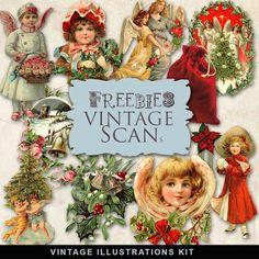 Scrapbooking TammyTags -- TT - Designer - Far Far Hill,  TT - Item - Element, TT - Theme - Vintage, TT - Theme - Christmas