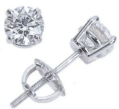3/4 Carat Solitaire Diamond Stud Earrings Round Brilliant Shape 4 Prong Screw Back (D-E Color, VS1-VS2 Clarity... for only $1,730.00 You save: $4,670.00 (73%)